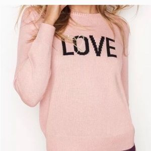 "Cashmere ""LOVE"" Sweater by VS"
